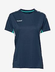 Hummel - TECH MOVE JERSEY WOMAN S/S - football shirts - sargasso sea - 0