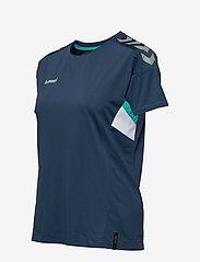 Hummel - TECH MOVE JERSEY WOMAN S/S - football shirts - sargasso sea - 2