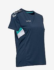 Hummel - TECH MOVE JERSEY WOMAN S/S - football shirts - sargasso sea - 3