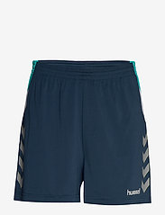 Hummel - TECH MOVE POLY SHORTS WOMAN - treenishortsit - sargasso sea - 0