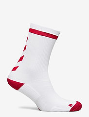 Hummel - ELITE INDOOR SOCK LOW - voetbalsokken - white/true red - 1