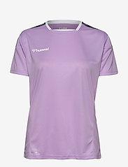 Hummel - hmlAUTHENTIC POLY JERSEY WOMAN S/S - t-shirts - lavendula - 0
