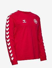 Hummel - DBU FAN 2020 COT. TEE L/S - football shirts - tango red - 2