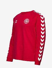 Hummel - DBU FAN 2020 COT. TEE L/S - football shirts - tango red - 3