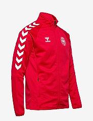 Hummel - DBU FAN 2020 ZIP JACKET - sweaters - tango red - 3