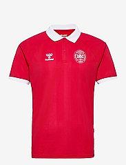 Hummel - DBU FAN 2020 POLO - football shirts - tango red - 0