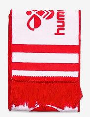 Hummel - DBU FAN 2020 HEAVY SCARF - accessories - tango red/white - 1