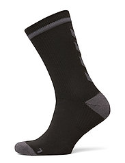 ELITE INDOOR SOCK LOW - BLACK/ASPHALT