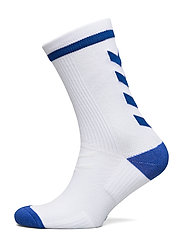 ELITE INDOOR SOCK LOW - WHITE/TRUE BLUE
