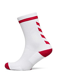 ELITE INDOOR SOCK LOW - WHITE/TRUE RED