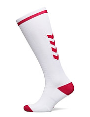 ELITE INDOOR SOCK HIGH - WHITE/TRUE RED