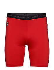 HML FIRST PERFORMANCE TIGHT SHORTS - TRUE RED