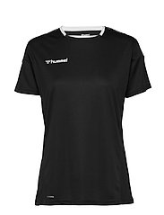 hmlAUTHENTIC POLY JERSEY WOMAN S/S - BLACK/WHITE