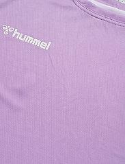 Hummel - hmlAUTHENTIC POLY JERSEY WOMAN S/S - t-shirts - lavendula - 4