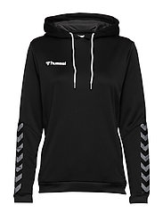 hmlAUTHENTIC POLY HOODIE WOMAN - BLACK/WHITE