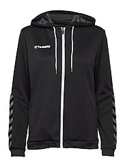 hmlAUTHENTIC POLY ZIP HOODIE WOMAN - BLACK/WHITE