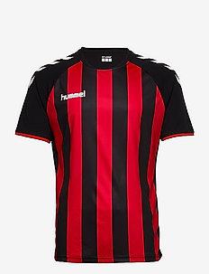 CORE STRIPED SS JERSEY - maillots de foot - black/true red