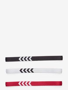 3-PACK HEADBAND 17-18 - bandeaux - white/black/true red