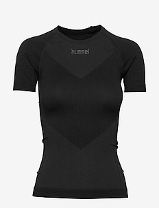HUMMEL FIRST SEAMLESS JERSEY S/S WOMAN - t-shirts - black