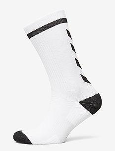 ELITE INDOOR SOCK LOW - fodboldsokker - white/black