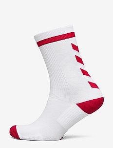 ELITE INDOOR SOCK LOW - football socks - white/true red