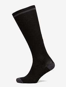 ELITE INDOOR SOCK HIGH - BLACK/ASPHALT