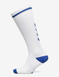 ELITE INDOOR SOCK HIGH - jalkapallosukat - white/true blue