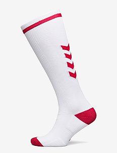ELITE INDOOR SOCK HIGH - voetbalsokken - white/true red