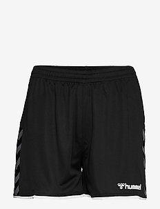 hmlAUTHENTIC POLY SHORTS WOMAN - træningsshorts - black/white