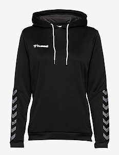 hmlAUTHENTIC POLY HOODIE WOMAN - hettegensere - black/white