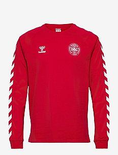 DBU FAN 2020 COT. TEE L/S - football shirts - tango red