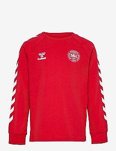 DBU FAN 2020 COT. TEE L/S KIDS - sweatshirts - tango red