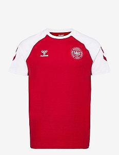 DBU FAN 2020 COT. TEE S/S - football shirts - tango red