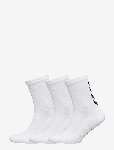 FUNDAMENTAL 3-PACK SOCK - almindelige strømper - white