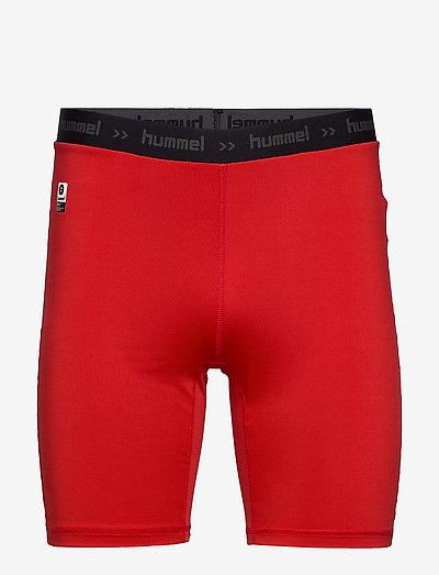 HML FIRST PERFORMANCE TIGHT SHORTS - training korte broek - true red