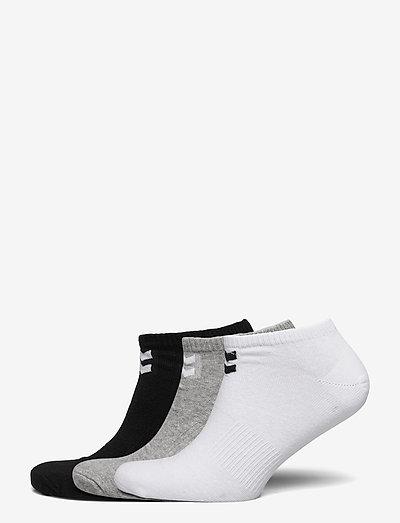 hmlCHEVRON 6-PACK ANKLE SOCKS - kousen - white/black/grey