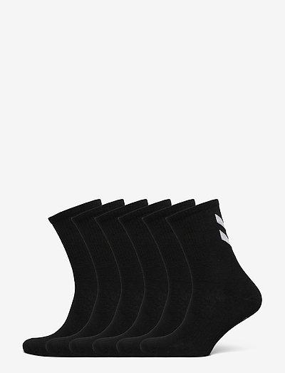 hmlCHEVRON 6-PACK SOCKS - almindelige strømper - black