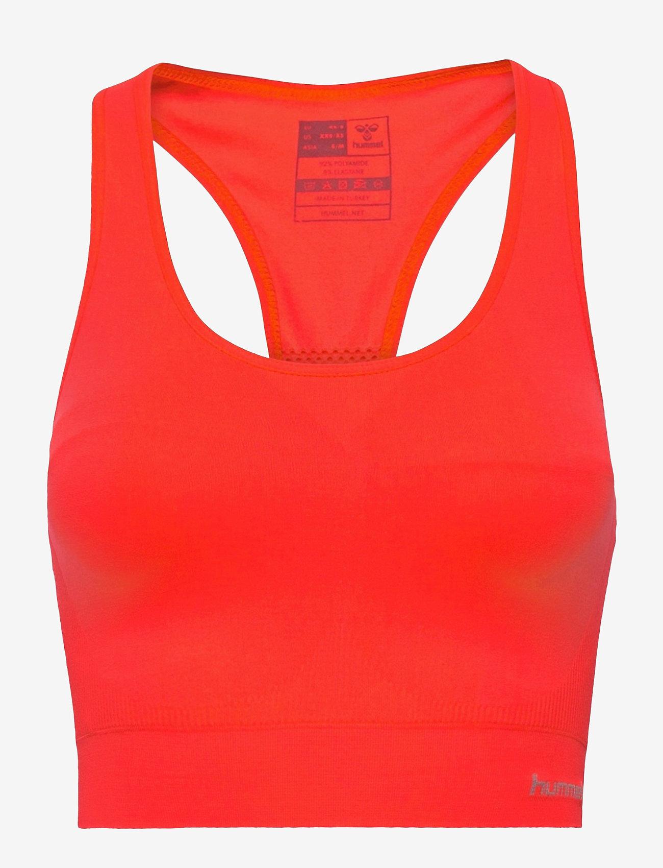 Hummel - SUE SEAMLESS SPORTS TOP - sport bras: low - fiery coral - 0
