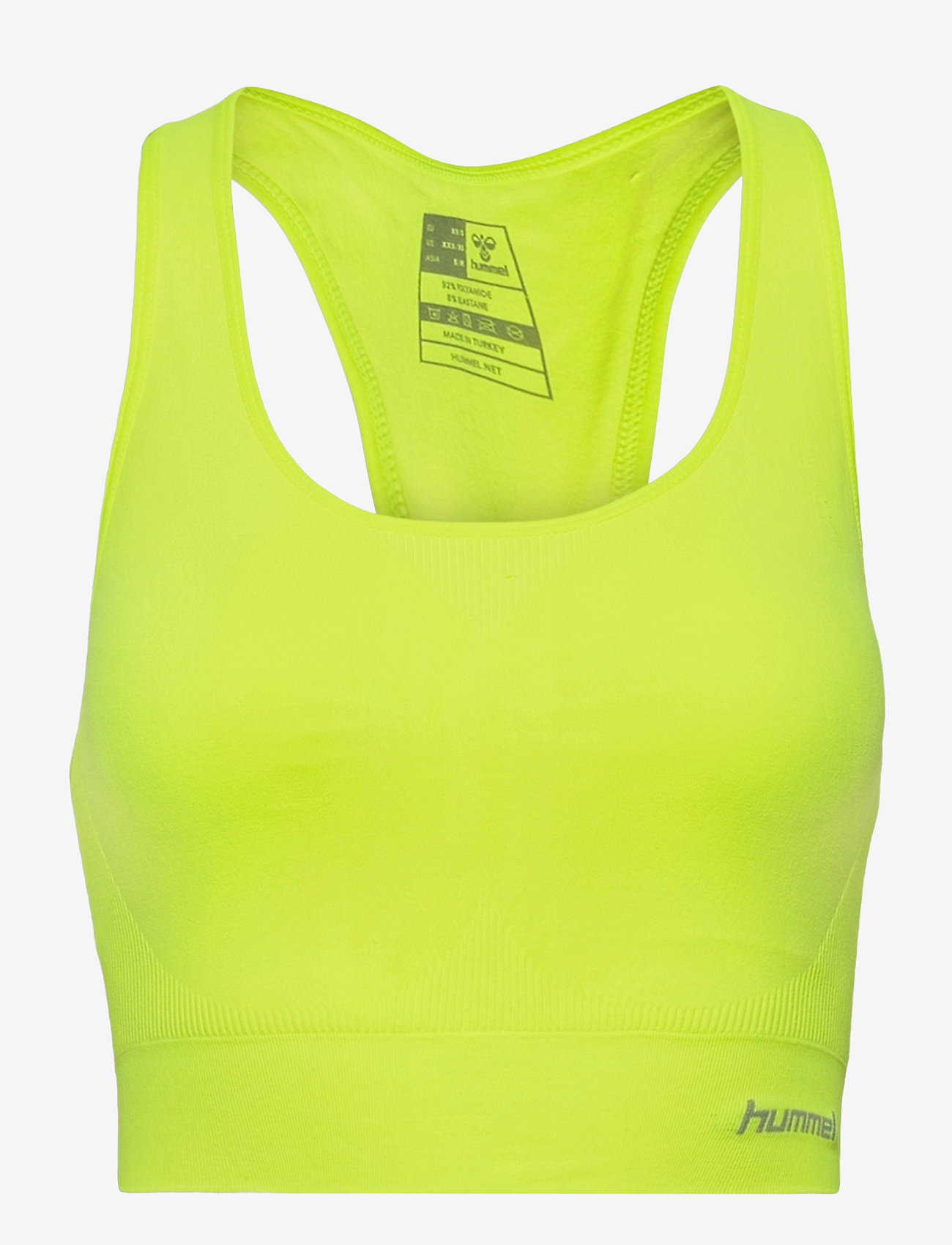 Hummel - SUE SEAMLESS SPORTS TOP - sort bras:high - safety yellow - 0