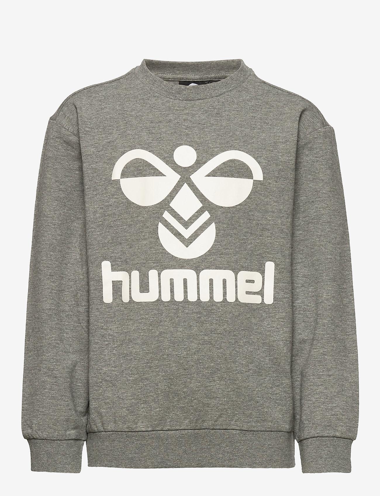 Hummel - HMLDOS SWEATSHIRT - sweatshirts - medium melange - 0