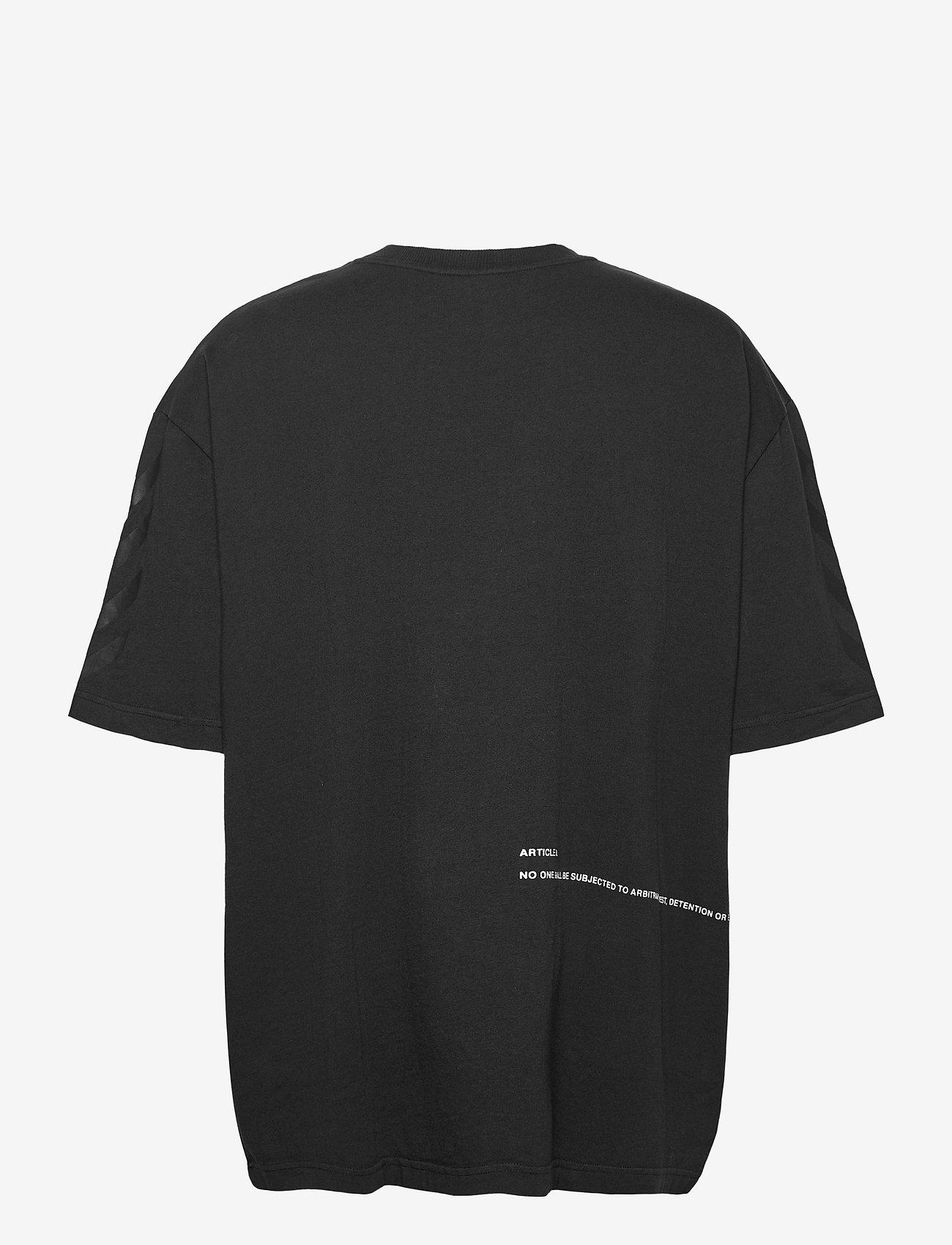 Hummel - hmlWILLY BUFFALO T-SHIRT S/S - t-shirts - black - 1