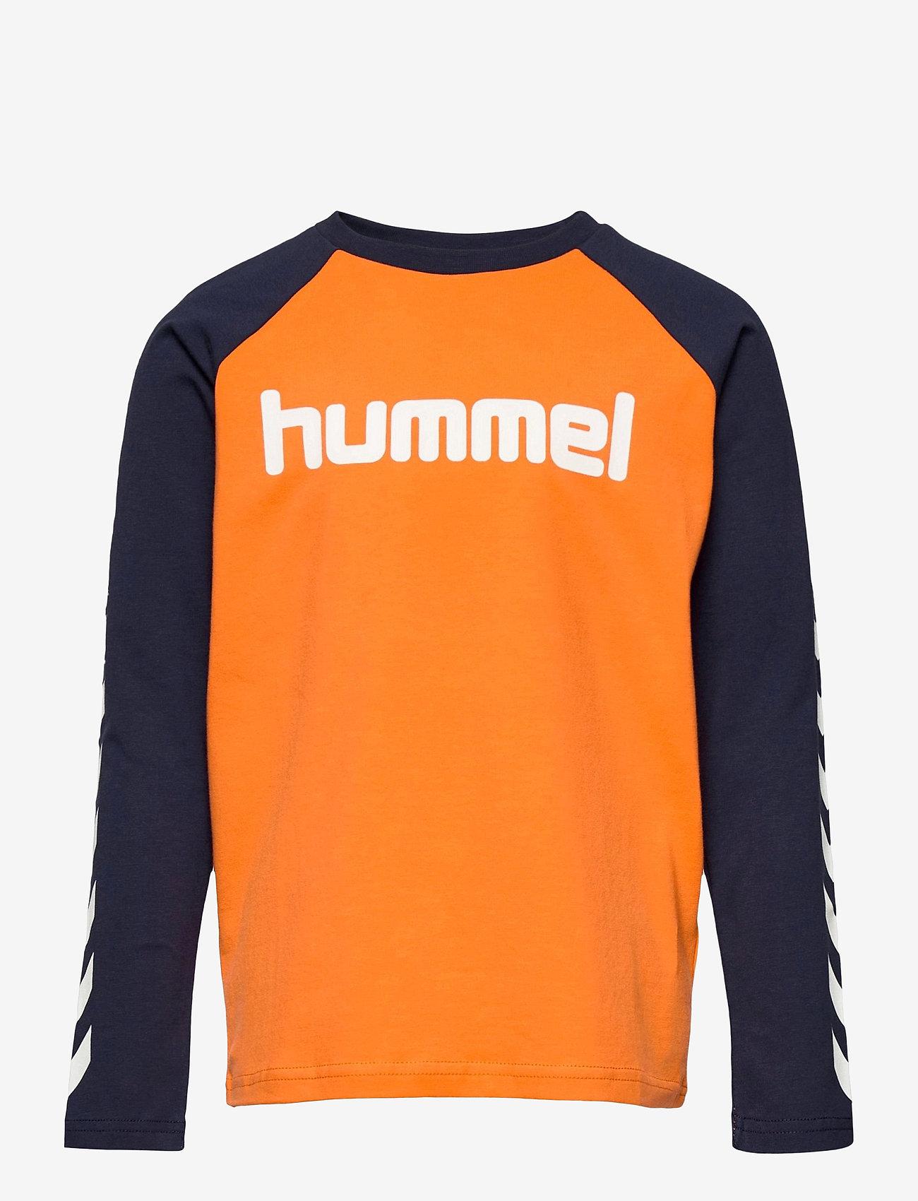 Hummel - hmlBOYS T-SHIRT L/S - long-sleeved t-shirts - carrot - 0