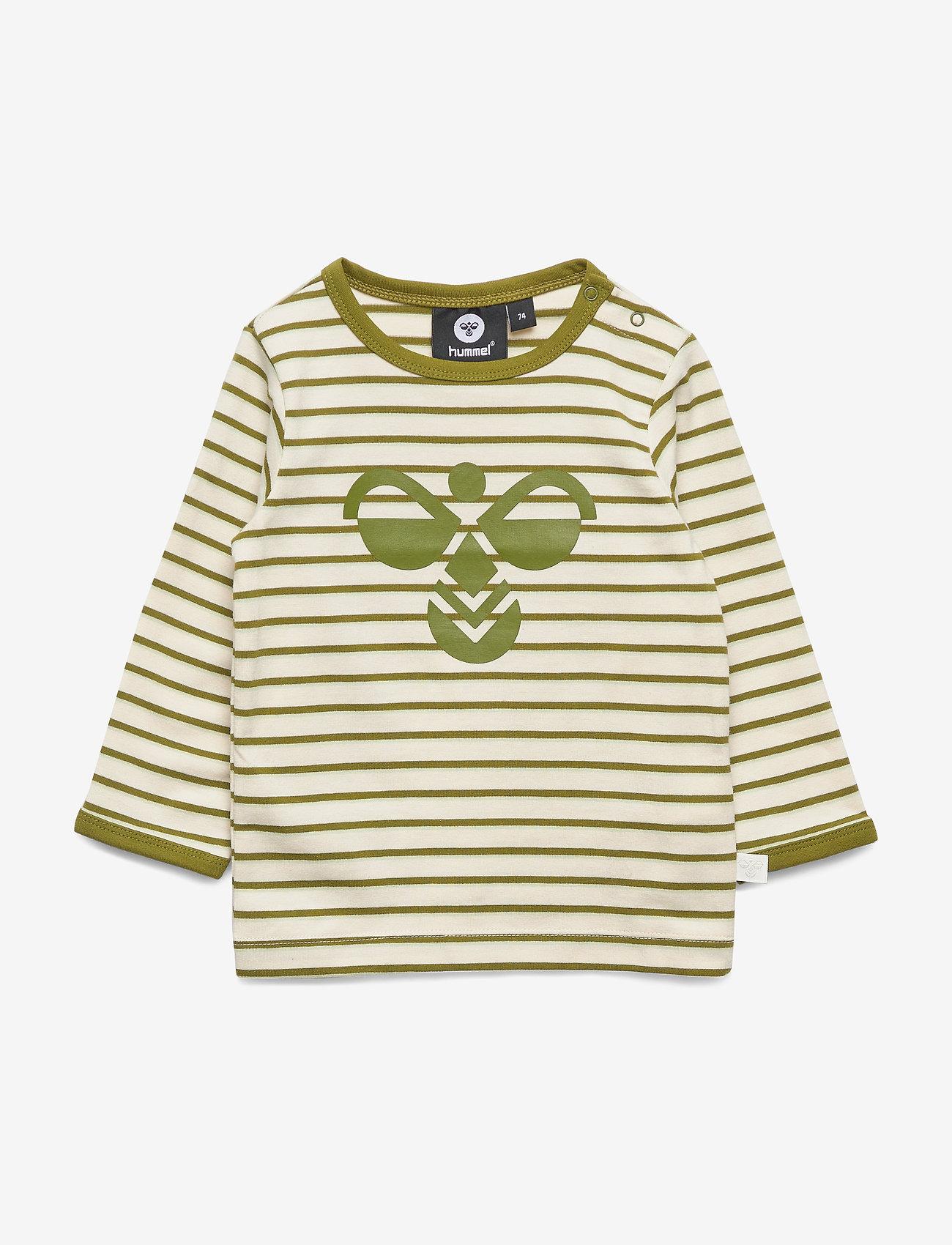 Hummel - hmlALAN T-SHIRT L/S - long-sleeved t-shirts - pesto - 0