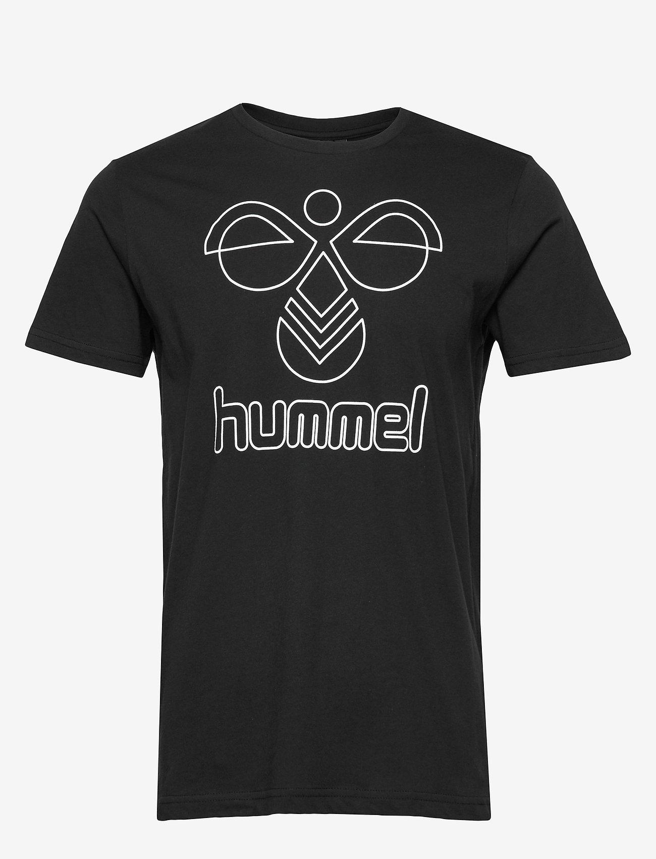 Hummel - hmlPETER T-SHIRT S/S - t-shirts - black - 0