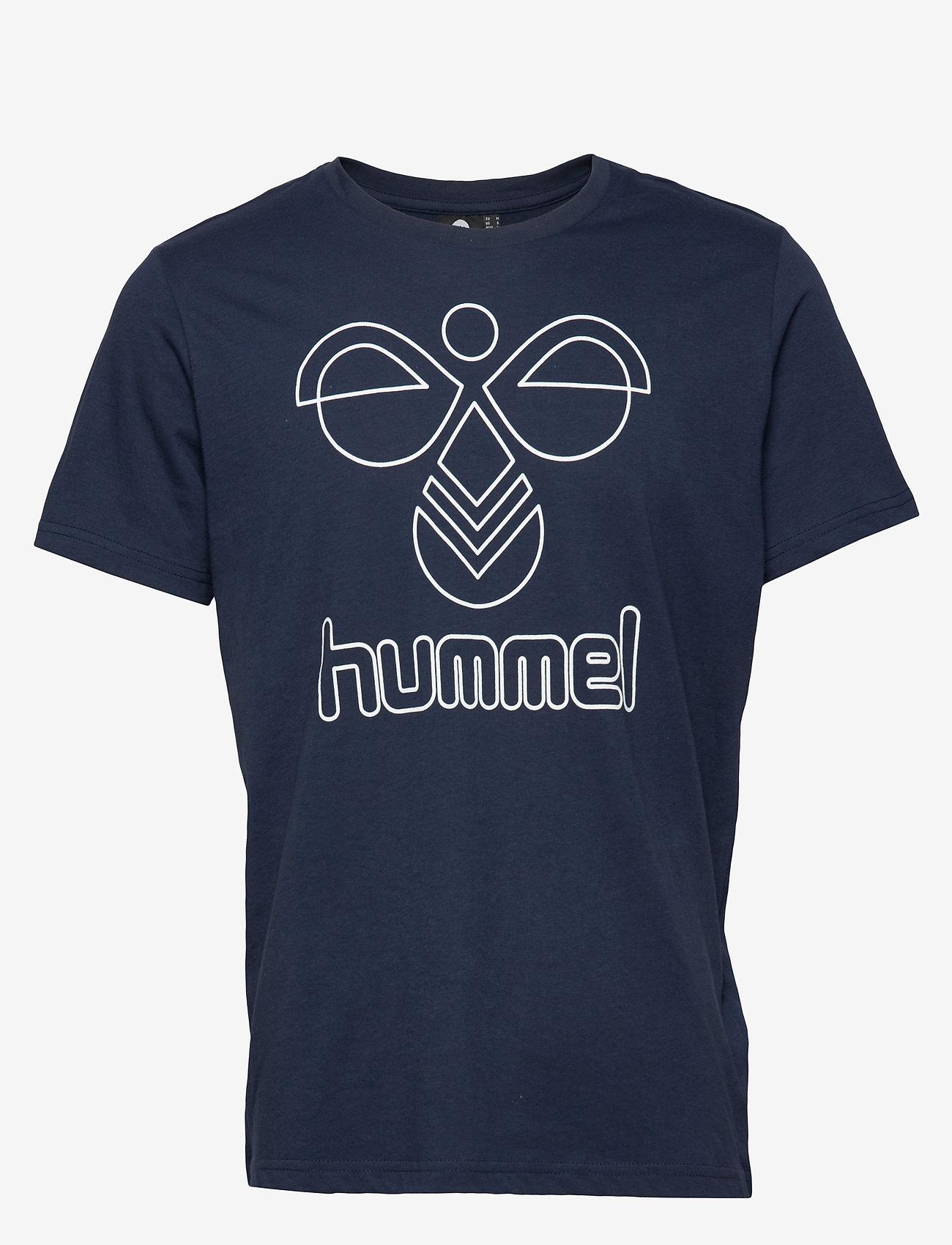 Hummel - hmlPETER T-SHIRT S/S - t-shirts - black iris - 0