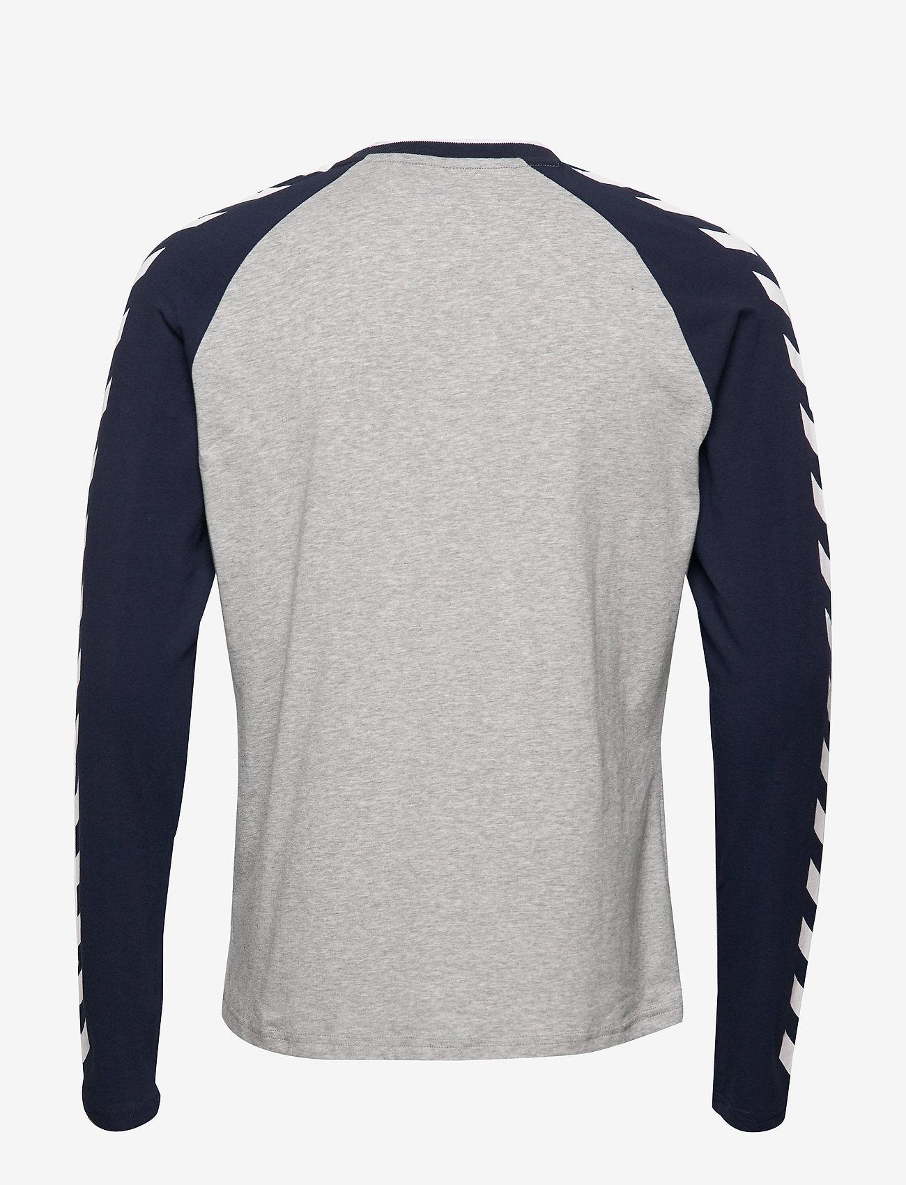 Hummel - hmlMARK T-SHIRT L/S - bluzki z długim rękawem - grey melange - 1