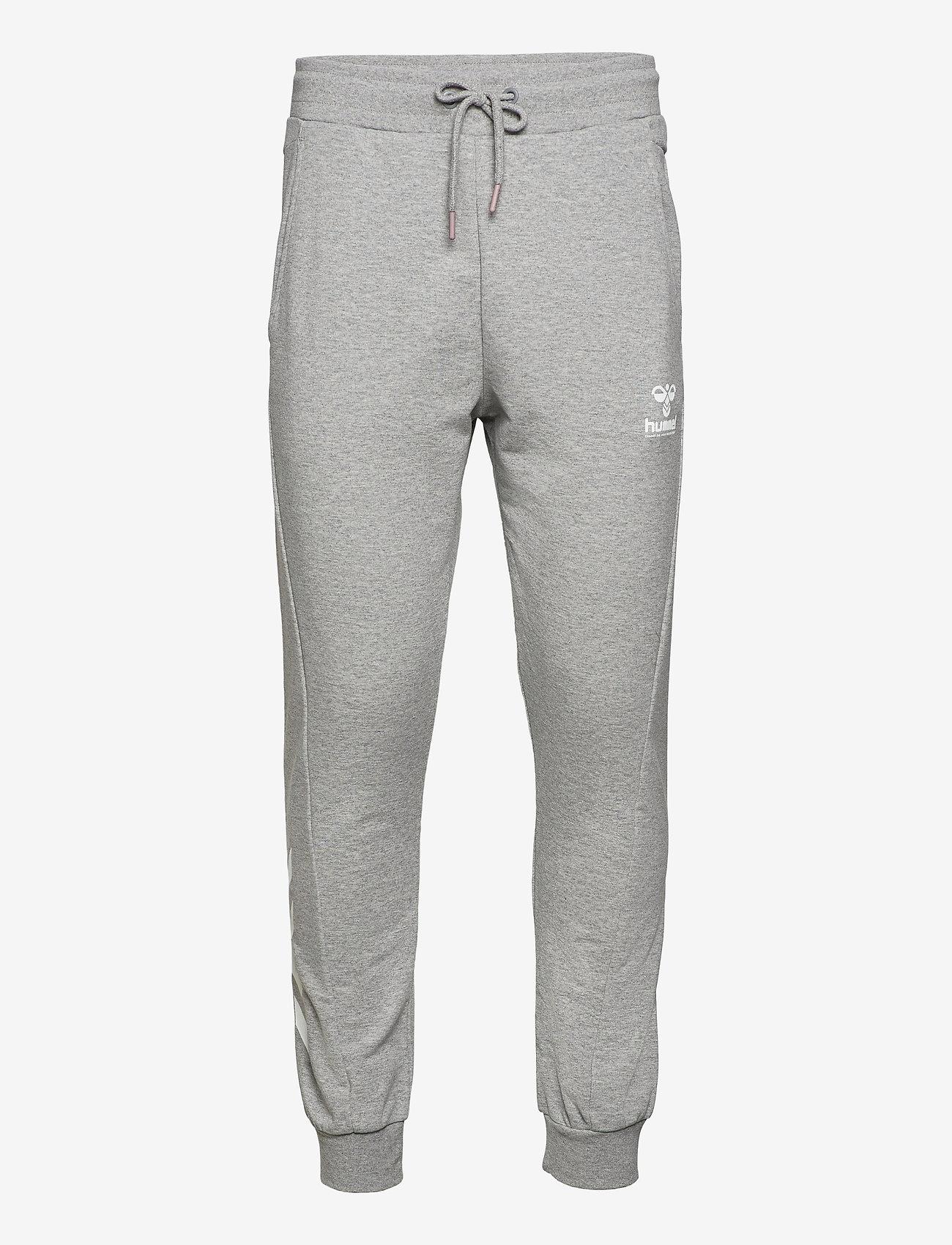 Hummel - hmlISAM REGULAR PANTS - trainingsbroek - grey melange - 0