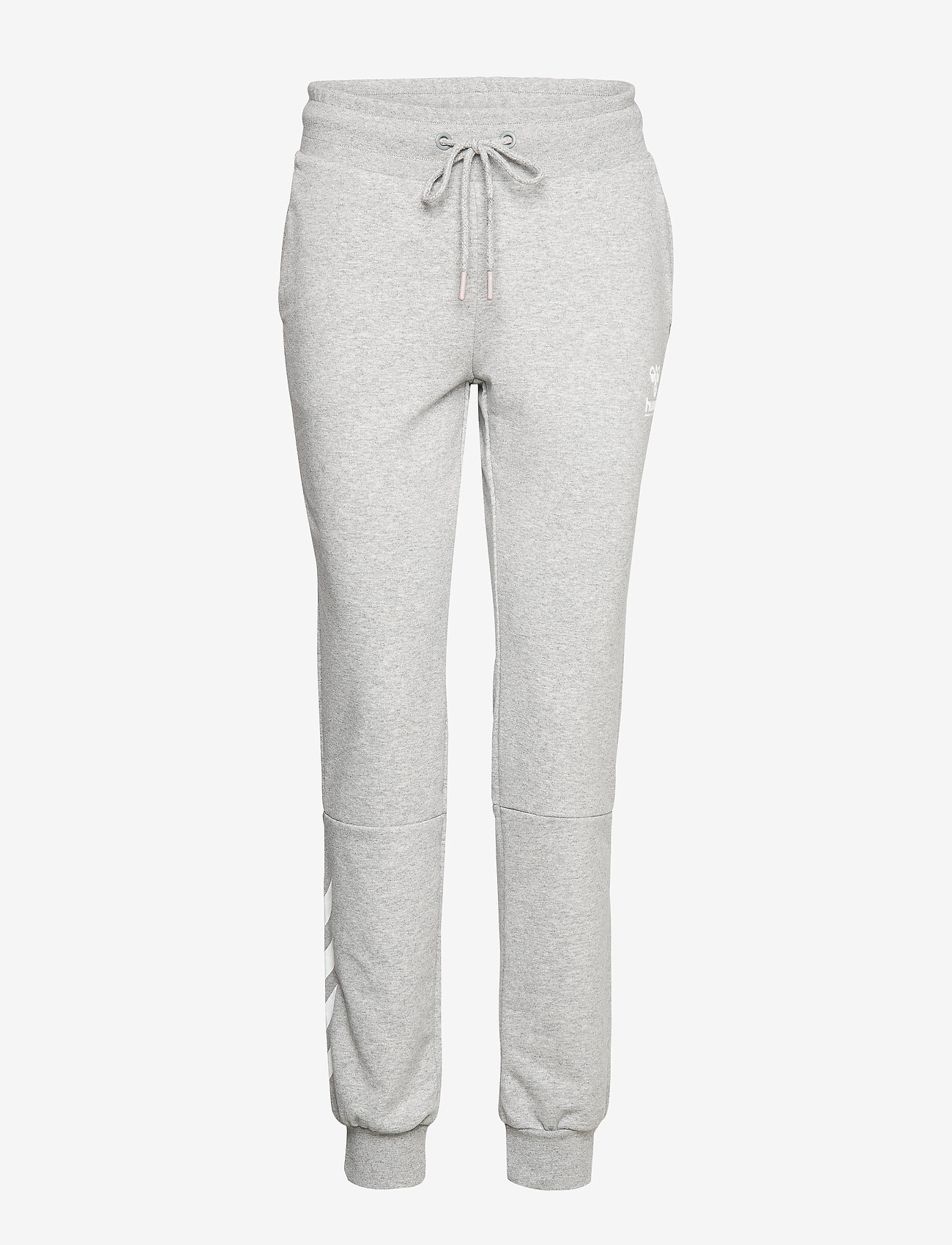 Hummel - hmlNONI REGULAR PANTS - bukser - grey melange - 0