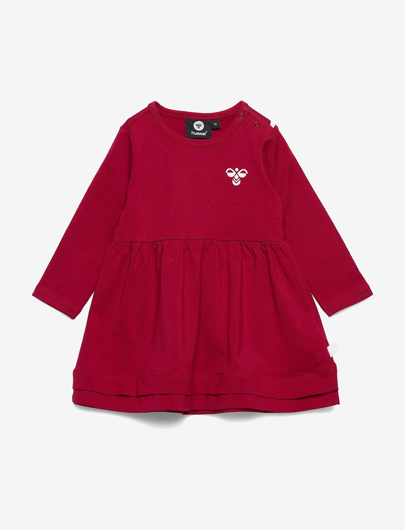 Hummel - hmlSONJA DRESS L/S - robes - rio red - 0