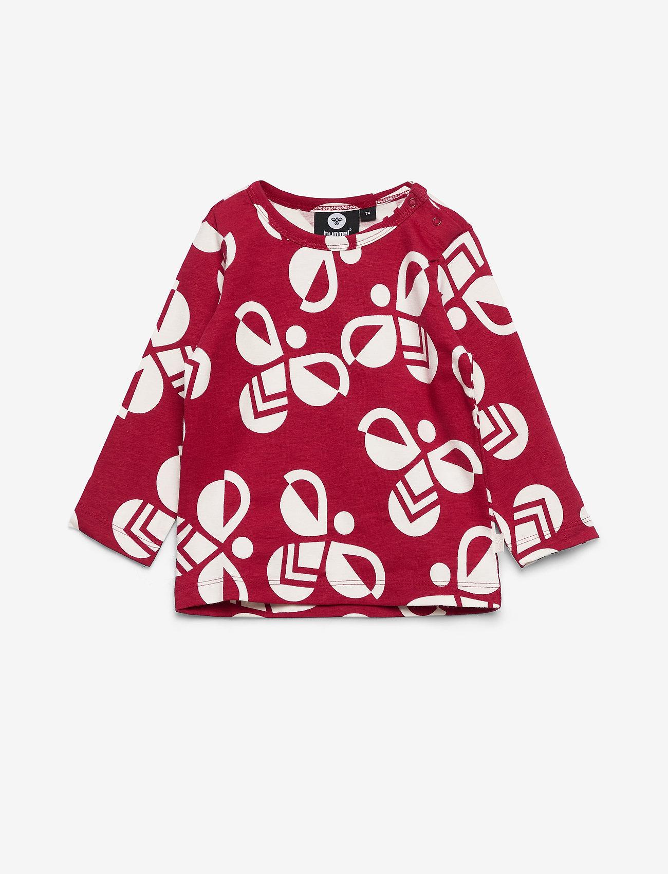 Hummel - hmlCHARLIE T-SHIRT L/S - long-sleeved t-shirts - rio red - 0